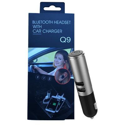 Bluetooth headset with 2xCar charger