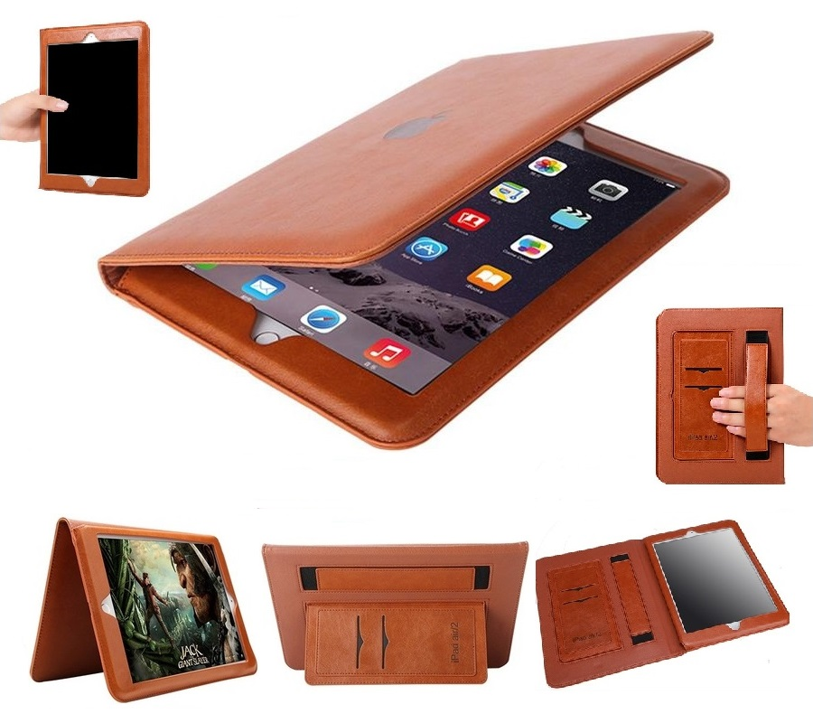 iPad Mini 1 2 3 Full Protection cover PU Leather Brown