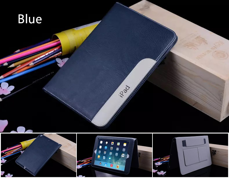 iPad Ultra Thin Slim Smart Cover PU Leather 2017/2018 Blue