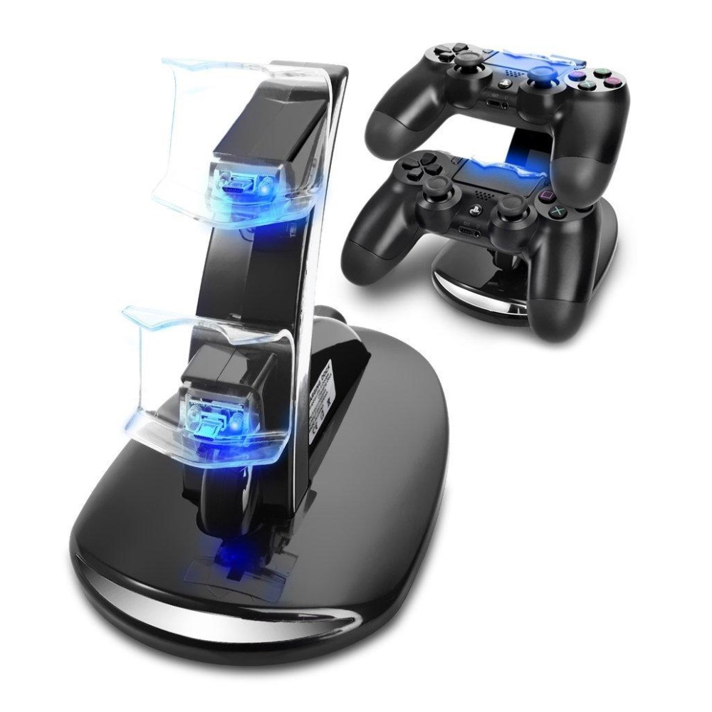 Dual USB Charger til Wireless controller PS4 / Xbox One