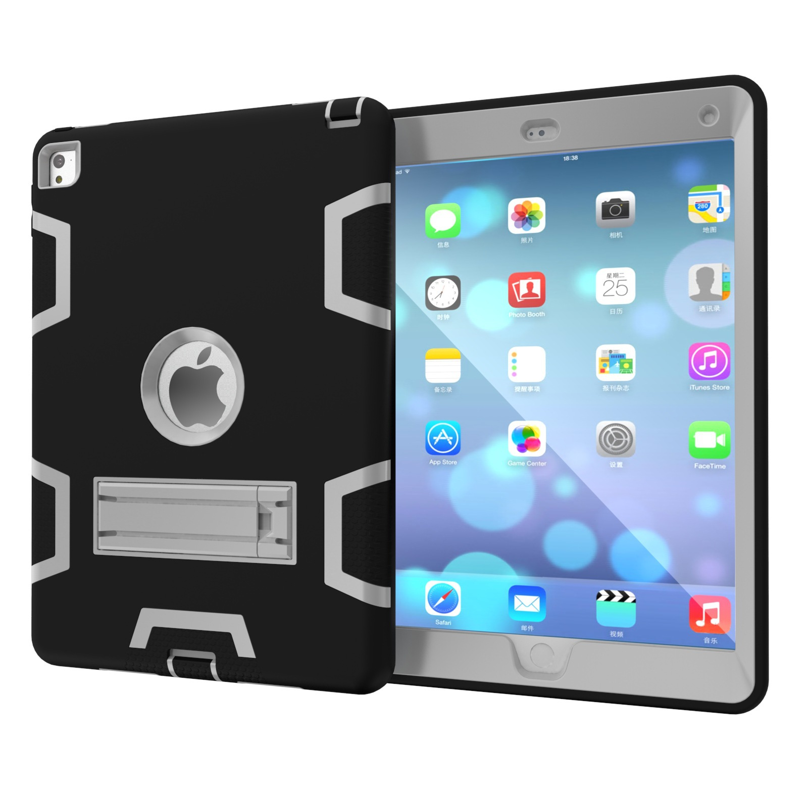 3-in-1 Shockproof Hybrid Defender with Stander - iPad Air 1/2