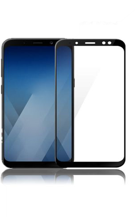 VMax Glass 3D Full Tempered Glass Black Samsung A8 2018